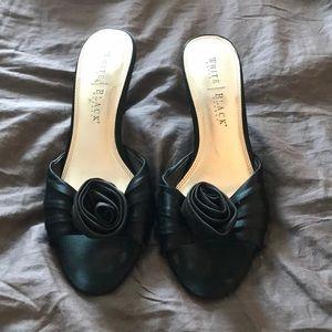 WHBM satin sandals size 10